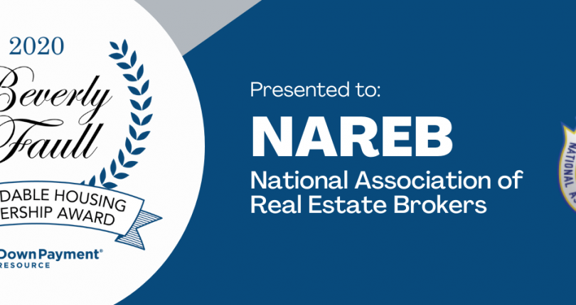Down Payment Resource Presents Beverly Faull Affordable Housing Leadership Award to NAREB