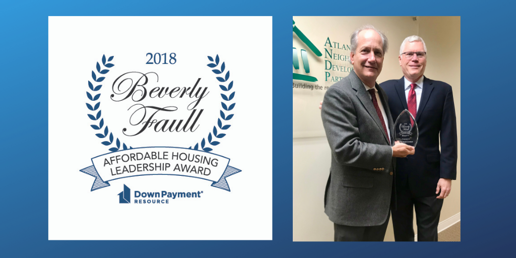 Down Payment Resource Presents Beverly Faull Affordable Housing Leadership Award to John O'Callaghan
